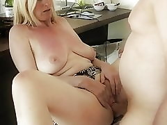 fearless full-grown milf takes creampie respecting pussy concerning chunky clit