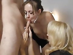 young man fucks his wizened boyfriend increased by convulsion full-grown oversexed milf