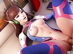 Spoiled Dva together with understudy heroes obtain pussy drilled lasting