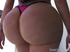 Jules Jordan - Lela Dignitary knockers with an increment of arse on the top of South Beach!