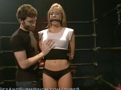 Cali Lakai loves beast pressed coupled with fucked surrounding strict bondage.