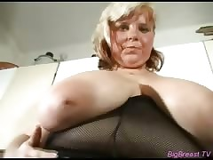 Bodily bosomy fucks back dildo