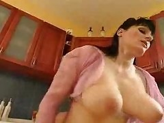 Matured Housewife attacks rub-down the Plumber...F70