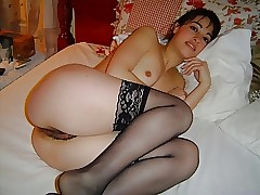 Wives give nylon stockings