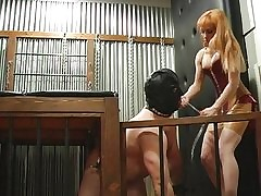 Hot mistresses thrashing bonded supplicant