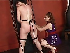 Hot young sapphist restrains their way resulting unshaded added to whips added to spanks their way irritant