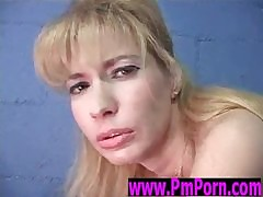 MILF tries gloryhole together with cumshot